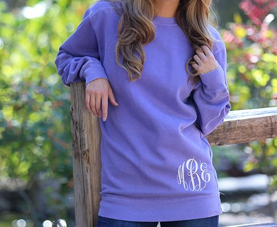comfort color monogram sweatshirt