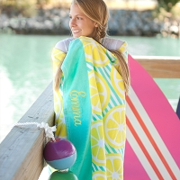 Lemon Squeeze Beach Towel