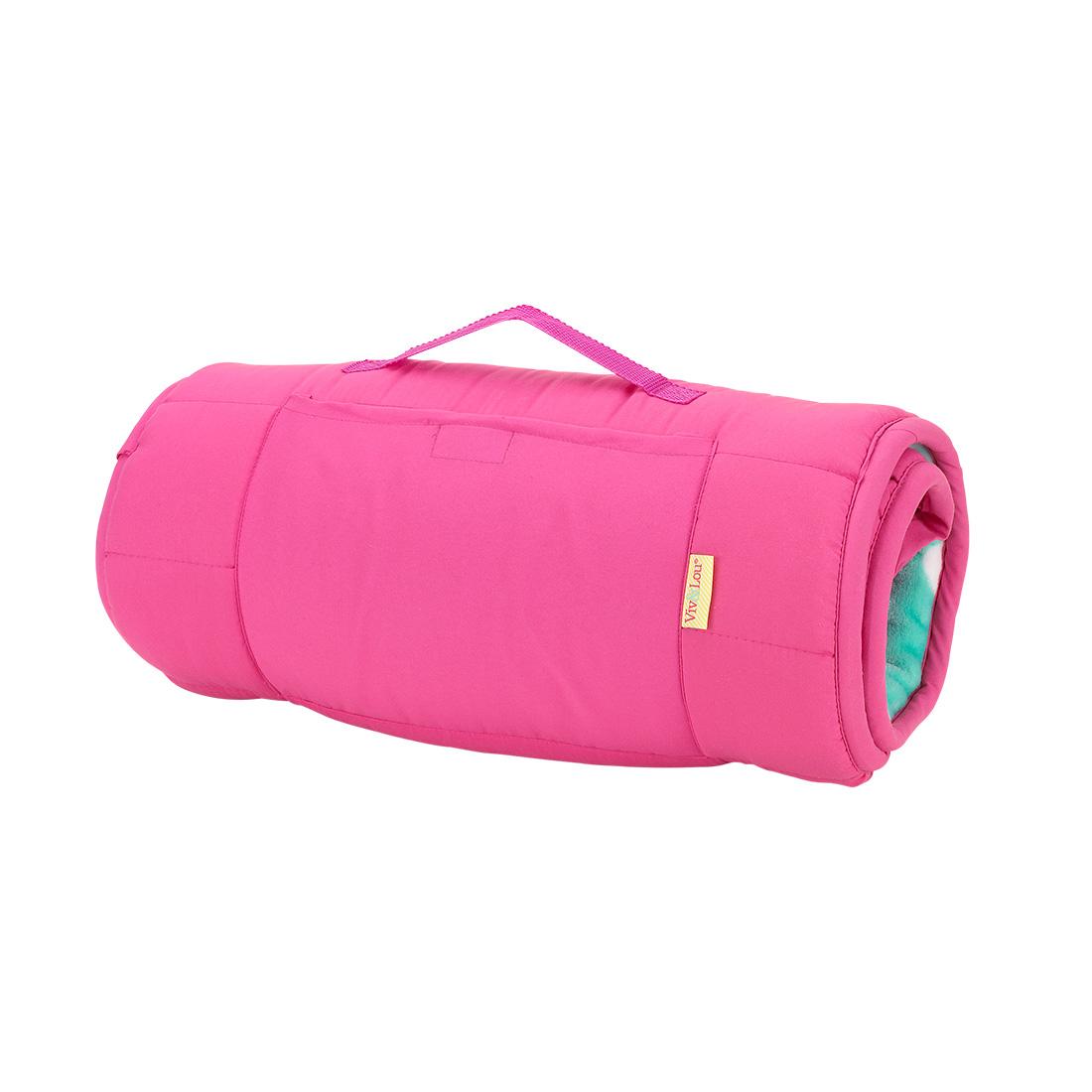 Hot Pink Mint Dot Nap Mat