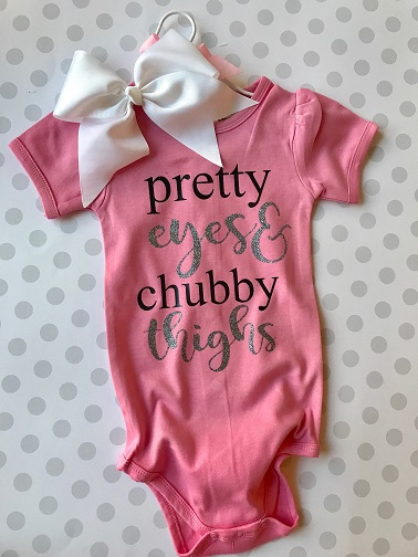 Pretty Eyes Chubby Thighs Baby Onesie