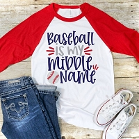 Baseball Is My Middle Name Raglan