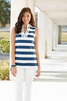 Willow Crochet Navy Stripe Tunic by Mud Pie - Large