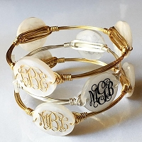 Triple Disc Wire Wrapped Bracelet Bangle