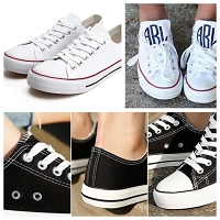 Monogram Canvas Sneaker Tennis Shoes