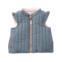 CHAMBRAY QUILTED VEST by Mud Pie
