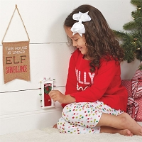 3-PIECE ELF DOOR GIFT SET by Mud Pie