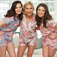 SHORT SLEEVE COTTON FLORAL PJ SHORT SET