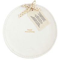 HAPPY EVERYTHING POEM PLATTER by Mud Pie
