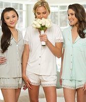 SHORT SLEEVE JERSEY LACE PJ SHORT SET