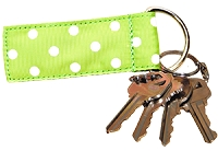 Green Apple Dot Key Fob