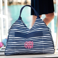 Tidelines Stripe Beach Bag
