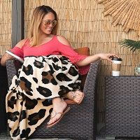 Leopard Plush Oversized Throw Blanket