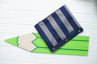 Greyson Stripe Pencil Bag