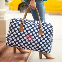 Polly Dot Weekender Travel Bag