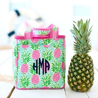 Monogrammed Pineapple Cooler Tote