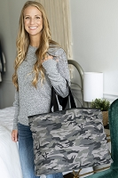 Personalized  Black Camo Ally Tote