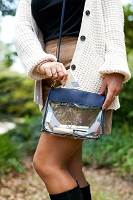 Navy Clear Addison Stadium Purse