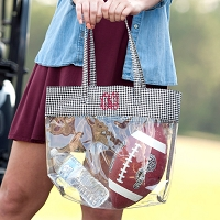 Houndstooth Clear Game Day Tote
