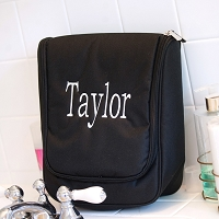Black Hanging Toiletry Travel Case