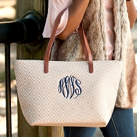 Monogrammed Diamond Charlotte Purse