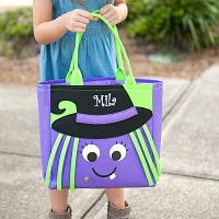 Halloween Witch Trick or Treat Candy Tote