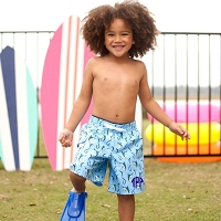 Hooked Boys' Swim Trunks