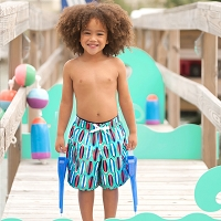 Surf Board Boys' Swim Trunks