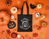 No Digity About To Bag It Up Halloween Trick or Treat Candy Bag
