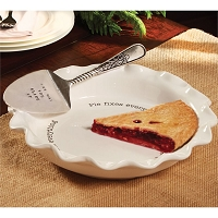 CIRCA PIE PLATE & SERVER SET by Mud Pie
