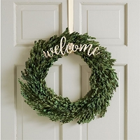 WELCOME WREATH HANGER