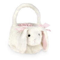 Personalized Plush White Bunny Easter Basket