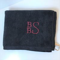 Black Golf Towel - BBS