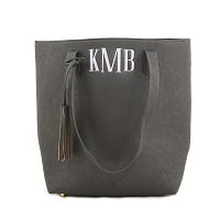 Luxe Shoulder Tote - Gray