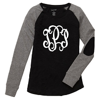 Black Preppy Patch Tee