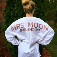 Oversized White Mrs. Bridal Pom Pom Spirit Jersey