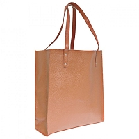 Brown Leather Shopping Tote