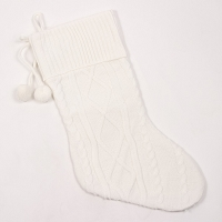 Ivory Cable Knit Stocking