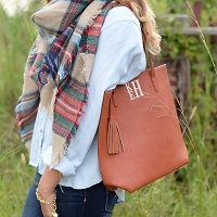 Luxe Shoulder Tote - Camel
