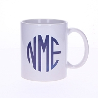 White Monogrammed Coffee Mug