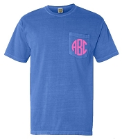 Comfort Color Short Sleeve Monogram Pocket T-Shirt