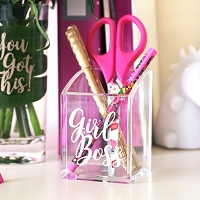 Girl Boss Acrylic Pen Holder
