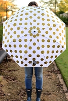 GOLD DOTS UMBRELLA