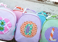 Seersucker Gumdrop Lunch Bags