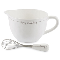 HAPPY EVERYTHING CERAMIC MIXING BOWL SET by Mud Pie