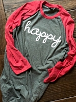 Happy Raglan Shirt