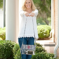 Houndstooth Gameday Clear Clutch