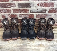 Monogram Brown Short Duck Boots