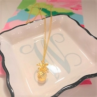 Gold Plated Pineapple Pendant Necklace