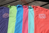 Comfort Color Short Sleeve Monogram T-Shirt (No Pocket)