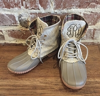 Monogram Ivory Short Duck Boots